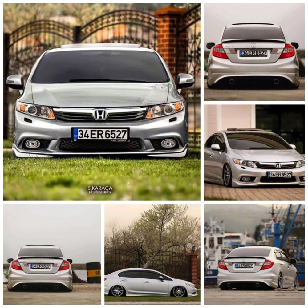 HONDA CİVİC FB7 BODY KİT 2012-2016 (polyester/model2)