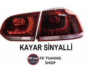 VOLKSWAGEN GOLF 6 BEYAZ R STOP KAYAR LED (2008-2013)